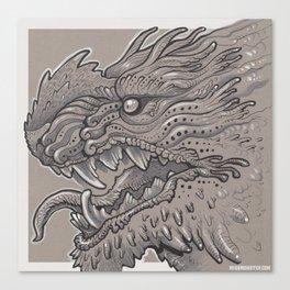 Spikey Monster Canvas Print