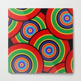 Multicolored rings 1 Metal Print