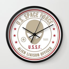 US SPACE FORCE Alien Liaison Officer Wall Clock