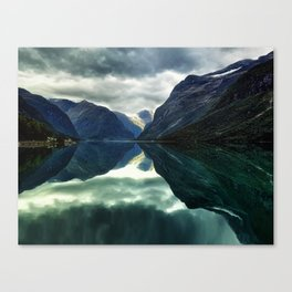 Mountains, Fjords and Glaciers - Norway Canvas Print