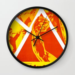 The Kid with the Golden Arm Wall Clock