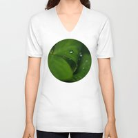 oregon V-neck T-shirts featuring Oregon oxalis by A Wandering Soul