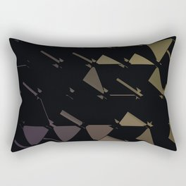 3D Futuristic GEO BG Rectangular Pillow