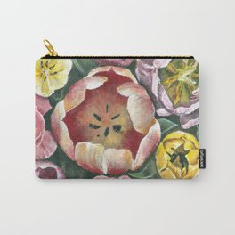 Colorful Spring Tulips Painting Carry-All Pouch