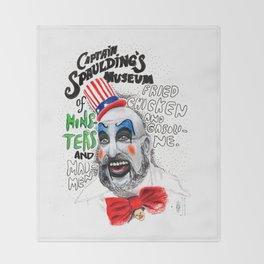 Captain Spaulding Throw Blanket