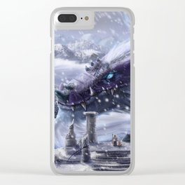 Arctic Dragon Clear iPhone Case