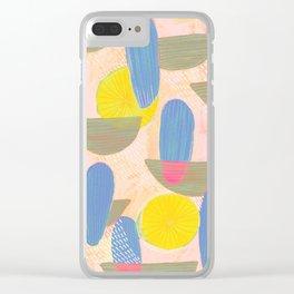 Geometric Deco Pattern Clear iPhone Case
