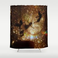 peter pan Shower Curtains featuring Peter Pan by zeebee