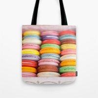 macaroon Tote Bags featuring Numerous Macaroon  by Asano Kitamura