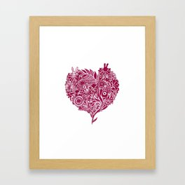 Love from the heart - The right way of life is love 愛由心生 - 愛了就對了 Framed Art Print