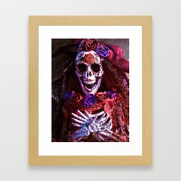 Red Catrina Framed Art Print