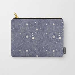 Blue Scribbles Pattern 08 Carry-All Pouch