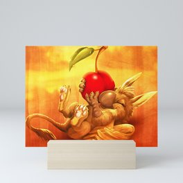 Cherry Guard - happy Mini Art Print