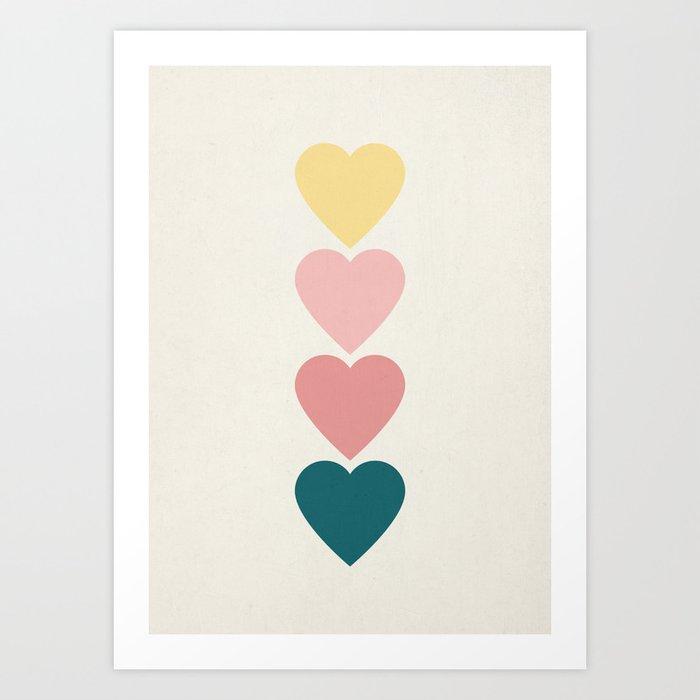 Hearts Kunstdrucke