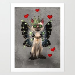 Majestic cat Art Print
