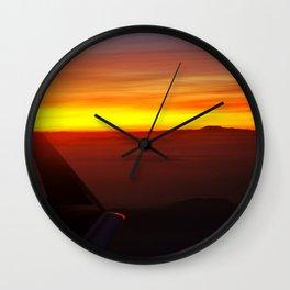 Sunset at 30,000 Feet Wall Clock