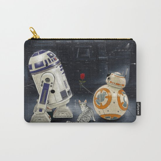 LOVE DROID & THE CAT Carry-All Pouch