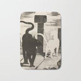The Cats Rendezvous, Edouard Manet, 1868 Bath Mat