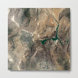 Las Vegas Lake Mead Nevada Arizona USA - High resolution satellite view of Earth from Space - Color Metal Print