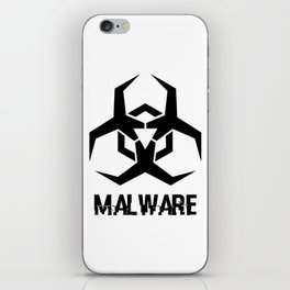 MALWARE Logo iPhone Skin