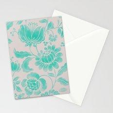 Wild Flower Cyan Stationery Cards