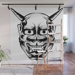 Hannya Art Mask Wall Mural