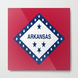 flag of arkansas-america,usa,The Natural State,Arkansan, Arkansawyer,Arkanite,Little Rock,Fort Smith Metal Print