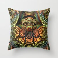 totem Throw Pillows featuring Totem by Lyle Hatch