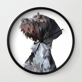 German Wirehaired Pointer Wall Clock