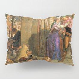 William Holman Hunt - The flight of Madeline and Porphyro during the drunkenness attending the revelry, 1857 Pillow Sham