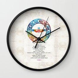 Love And Friendship Art by Sharon Cummings Wall Clock