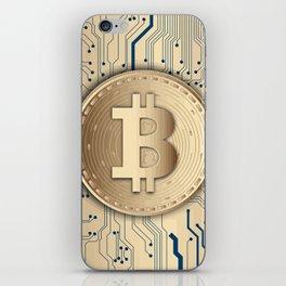 Bitcoin money gold iPhone Skin