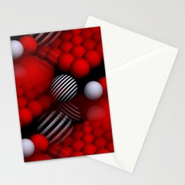 round and red -aa- Stationery Cards