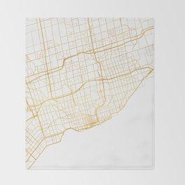 TORONTO CANADA CITY STREET MAP ART Throw Blanket