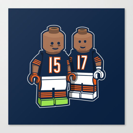 Bears Bricked: Brandon Marshall & Alshon Jeffery Canvas Print