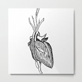 The heart that beats Metal Print