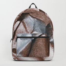 Rose Gold and Silver Abstract Backpack