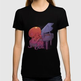 Octopus Playing The Piano T-shirt