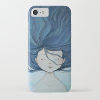 the little mermaid iPhone & iPod Cases featuring Little Mermaid by Grazia Vincoletto