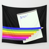 notebook Wall Tapestries featuring Writers block by Wendy Townrow