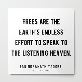 36|Rabindranath Tagore Quotes | 201208| The Author Of Gitanjali| Poem Poet Poetry Metal Print