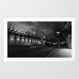 Train & tramway Art Print