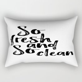 So fresh and so clean, Home Decor, Bathroom Decor, Towels Rectangular Pillow