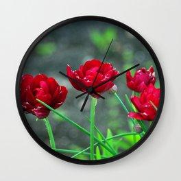 Garden Tulips Wall Clock