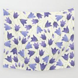 Vintage Pressed Flowers - Bellflower Wall Tapestry