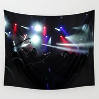 concert Wall Tapestries featuring CONCERT by Eclectic House Of Art