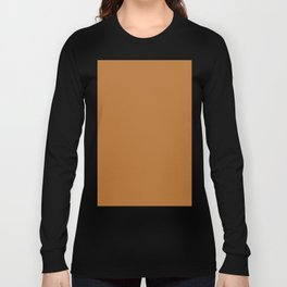 Copper Brown Long Sleeve T-shirt