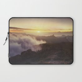 Sunset over the clouds Laptop Sleeve
