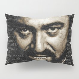 Luciano Pavarotti Italian Music Lover Pillow Sham