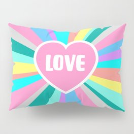 Love Colour Burst Pillow Sham